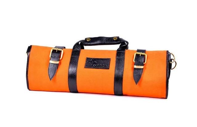 Boldric 17-Pocket Canvas Knife Bag, Orange