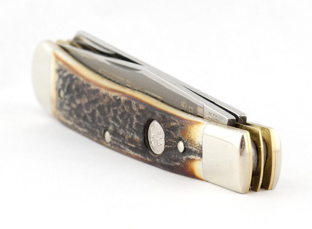 Boker Tree Brand Classic Stag 2-Blade Trapper