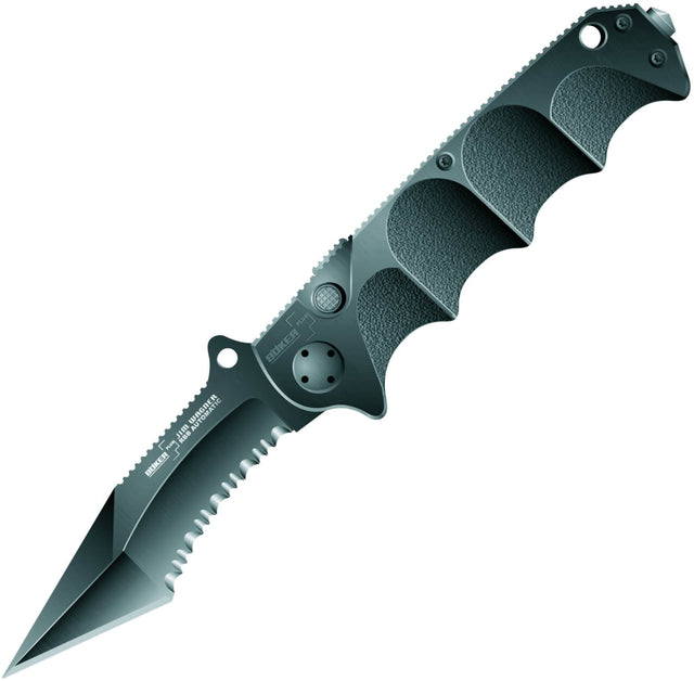 Boker Plus 01BO054 Jim Wagner Reality-Based Black Aluminum Handle, ComboEdge