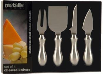 Prodyne Stainless Steel 4Pc Cheese Knives Set