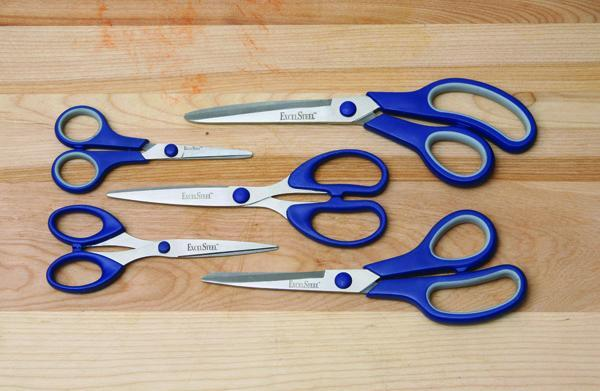 Cookpro 5PC Set All Purpose Kitchen Scissors - Blue Handles