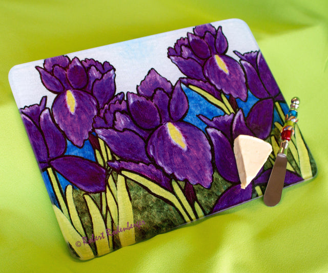 Jazzy Artz Purple Iris Cutting Board