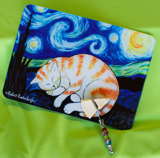 Jazzy Artz Starry Kitty Cutting Board
