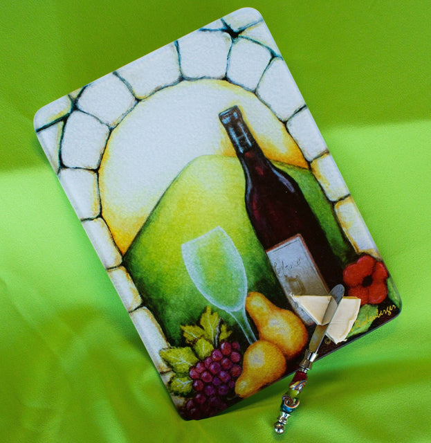 Jazzy Artz Vino View Cutting Board