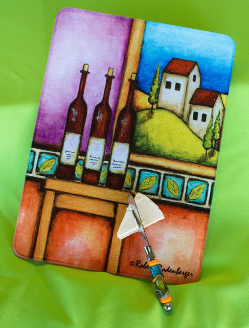 Jazzy Artz Wine Table Cutting Board