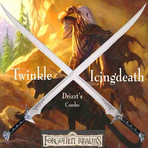 Drizzt's Icingdeath & Twinkle Scimitar Combo Set