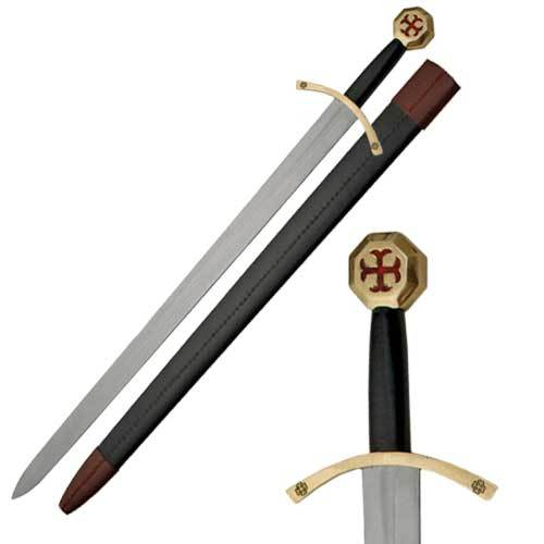 Medieval Knight Of Templar Sword