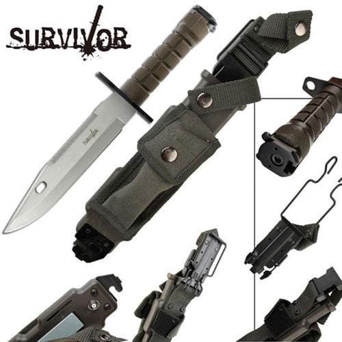 Master Cutlery Survivor Special Ops Bayonet Fixed Blade Knife