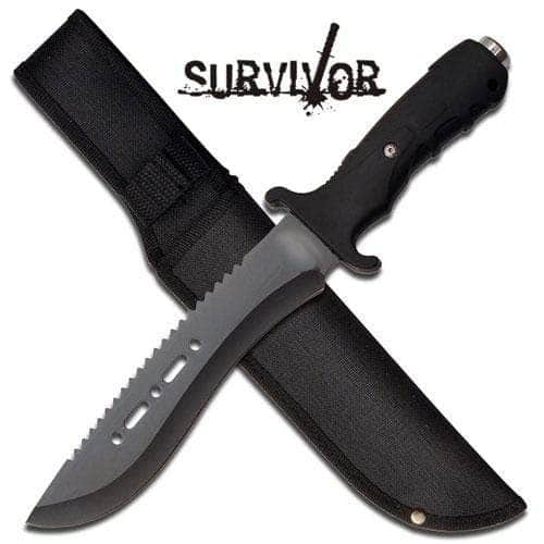 Master Cutlery Ultimate Extractor Bowie Survival Knife - Black