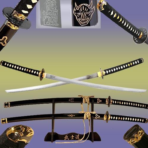 Kill Bill Sword Set, Demon & Bride, Gold Edition