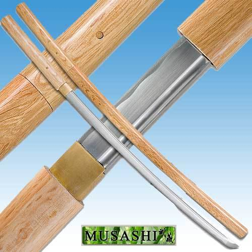 Bushido Musashi - Natural Shirasaya Sword Full Tang