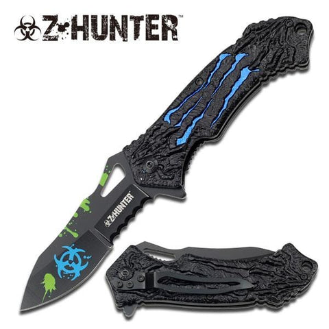 Blue Zombie Hunter Assisted Opening Knife