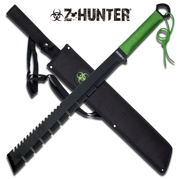 Z-Hunter Combat Machete W/ Offset Edge - Full Tang - Apocalypse Edition