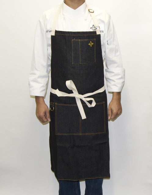 Boldric Charcoal Black Denim Apron