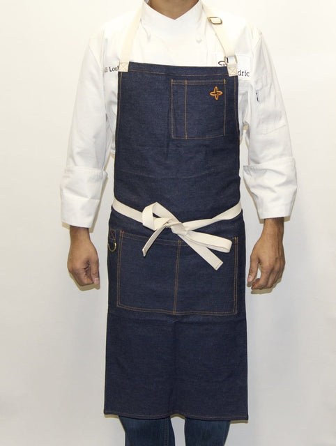 Boldric Charcoal Blue Denim Apron