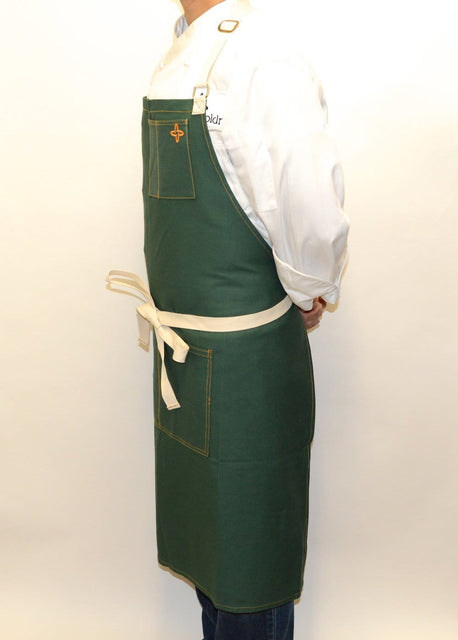 Boldric Canvas Apron, Forest Green