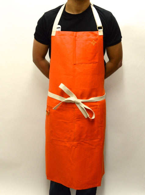 Boldric Canvas Apron, Orange