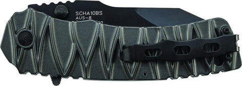 Schrade M.A.G.I.C. Dual Action Partially Serrated Manual & Assisted Opening Liner Lock Folding Knife