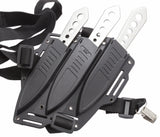 "United Cutlery Lightning Bolt Triple  7.25"" Throwing Knife Set"