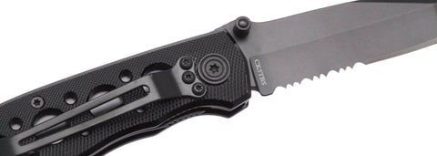 Smith & Wesson Bullseye Extreme OPS, Black Aluminum, Combo Edge Pocket Knif