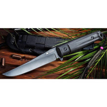 Kizlyar Supreme Croc D2-Black Titanium Fixed Blade Knife
