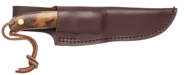 Schrade PHW Pro Hunter Knife with Desert Ironwood Handle and Leather Sheath