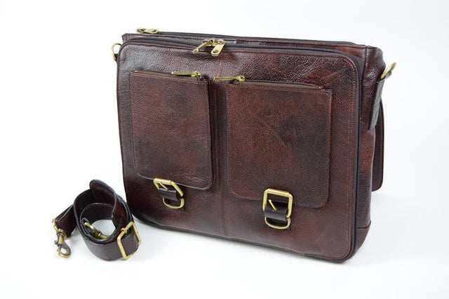 Boldric Leather Messenger Knife Bag