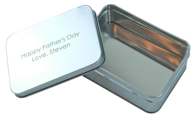 Laser Engraved Rectangular Gift Tin