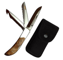 KRA Knives Tigger Creek 4-in-1 Hunting -Survival -Work Knife with Sheath