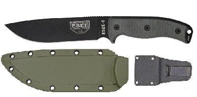 RAT Cutlery RC-6 Plain Edge Fixed Blade Knife with OD Molded Sheath