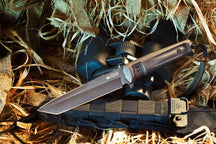 Kizlyar Supreme Aggressor D2-Black Titanium Fixed Blade Knife