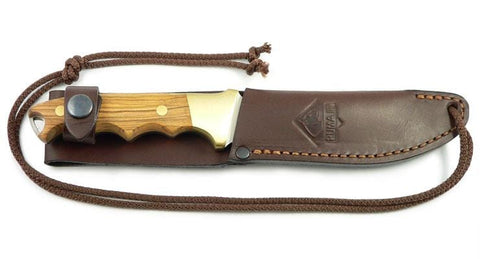 PUMA Knives Huntman II, Olive Fixed Blade Knife