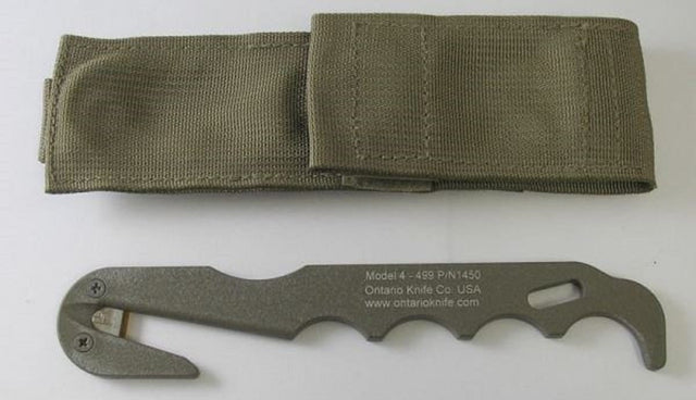 Ontario Knife Company (OKC) Model 4 - CB Strap Cutter With Sheath
