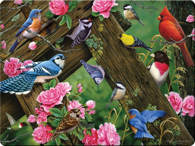Rivers Edge Products Songbirds Glass Tempered Cutting Board