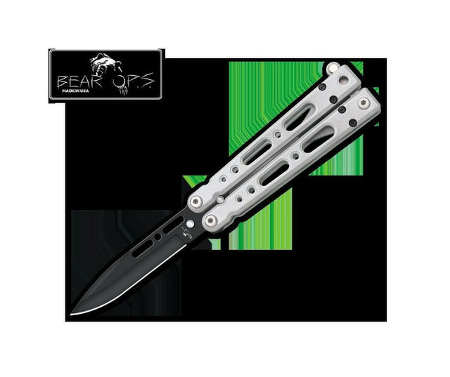 Bear OPS Bowie Clip Black Powder Coated Blade