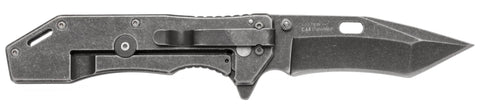 "Kershaw Lifter Assisted Flipper, 3.5"" 4Cr14 Steel Blade, SS Handles, BlackWash Finish - 1302BW"