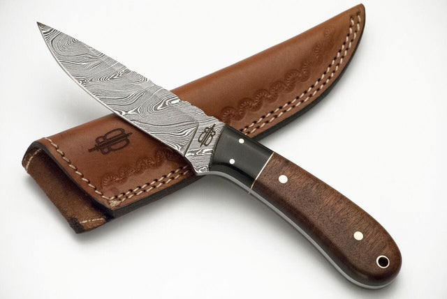Buck N Bear Custom Handmade Damascus Fixed Blade Spear Knife
