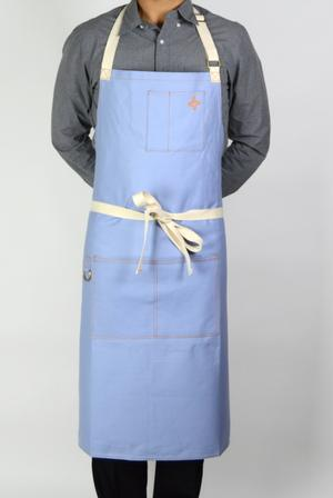 Boldric Canvas Bib Apron - Sky Blue