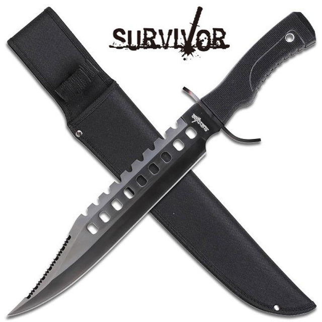 "Survivor 17"" Fixed Blade Bowie Knife"