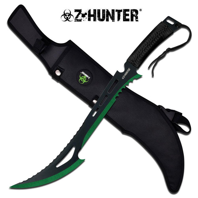 "Z-Hunter 23.75"" Machete - Green"