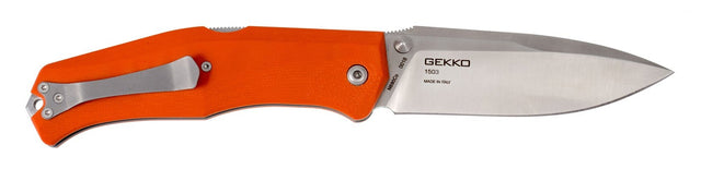 Steel Will Gekko 1503 Lockback Pocket Knife, Orange G10 Handles