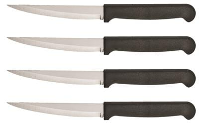 Ginsu Quikut 4 Piece Black Steak Knife Set