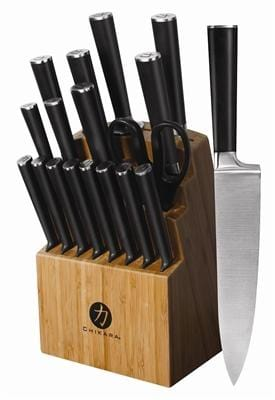 Ginsu Chikara Series 19 Piece Cutlery Set Block in Bamboo