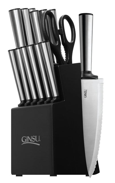 Ginsu Koden Series 14-Piece Black Block Cutlery Set