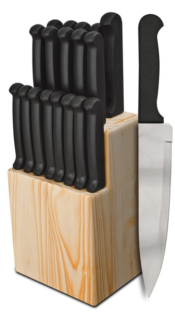 Quikut Series 20-Piece Natural Block Cutlery Set