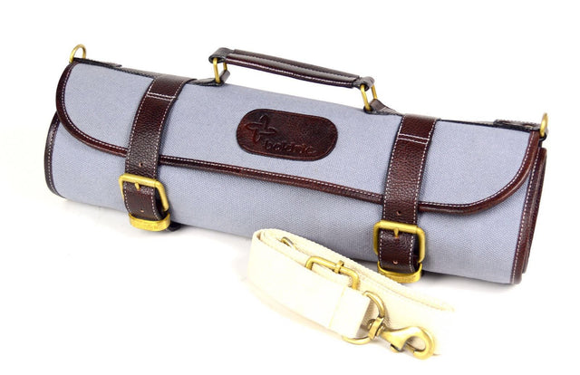 Boldric Canvas Roll Knife Bag, Gray