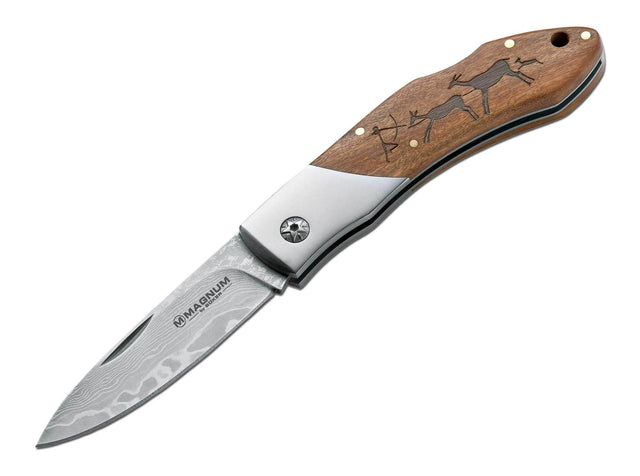 Magnum By Boker 01RY818DAM Caveman Damascus Pocket Knife