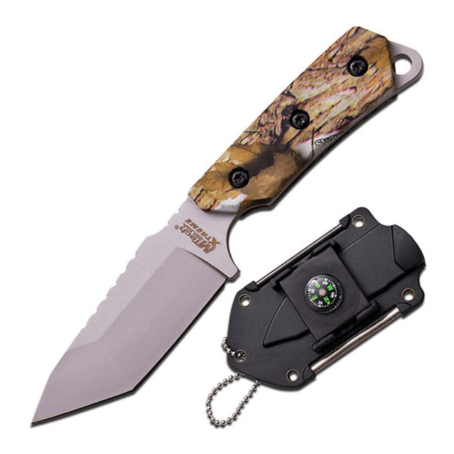 M-Tech USA Xtreme Neck Knife With Camo Coated G10 Handle