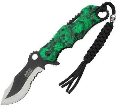 MTech USA MT-A808GN Assisted Opening Knife, 4.75in Closed