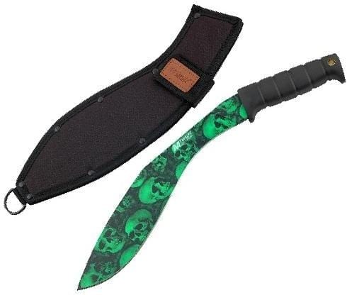 MTech USA MT-537GN 18in Green Skull Camo Kukri